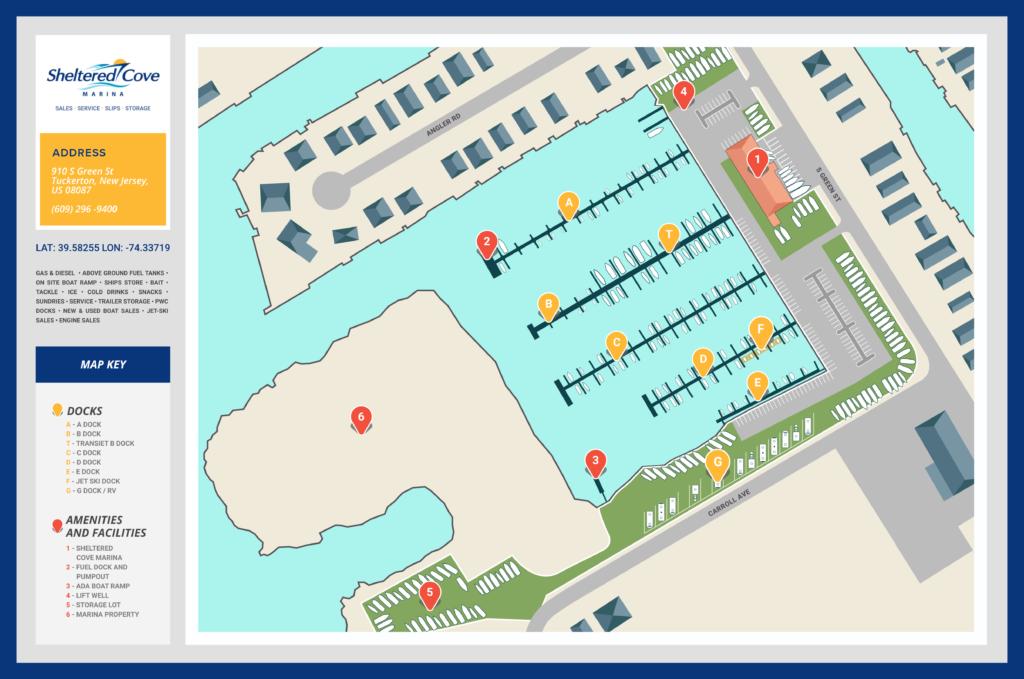 Transient Slips - Sheltered Cove Marina