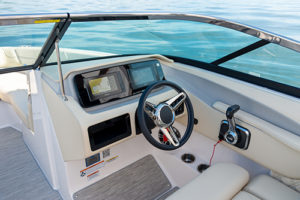 The Regal LS6 Surf luxury cockpit