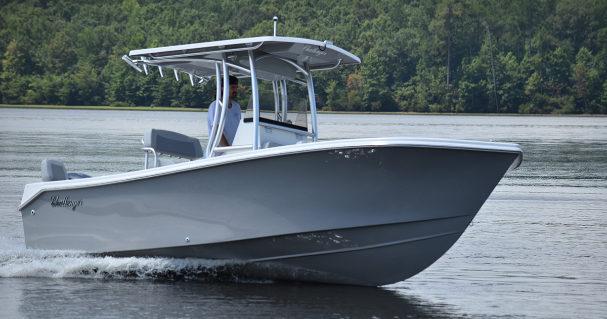 The KenCraft 21 in stock at Sheltered Cove Marina is built with fuel efficiency in mind.