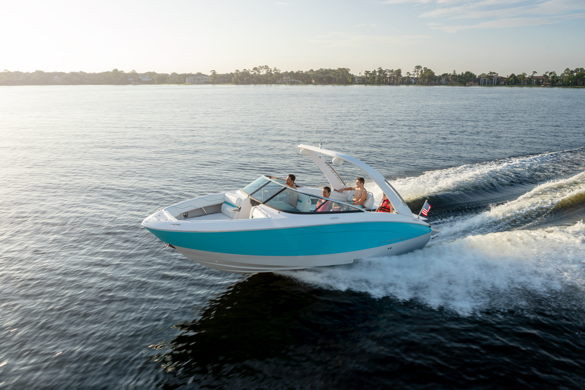 The Regal FasTrac Hull outperformance competitors in the same boat size and category.